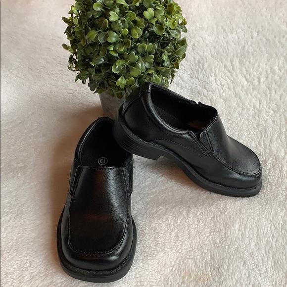Smart Fit Toddler Boy Black Dress Shoe